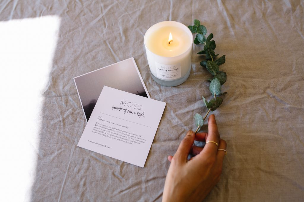 Scented Candle From Moment Of Sense And Style